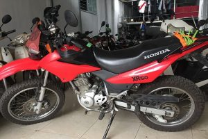 Honda XR 125cc (Red and White one)